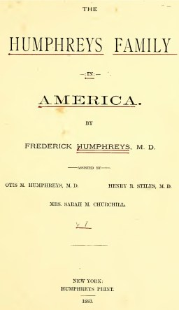 Humphreys-Family-title-page-Vol1