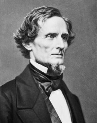 Jefferson Davis, President of the Confederacy, 1861 (portrait by Mathew Brady)