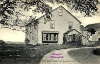 "An old photo of the ""Betty Alden House"" in Little Compton, Rhode island"
