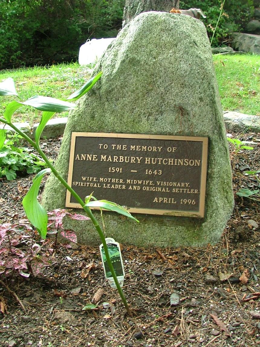 Anne Hutchinson Memorial (Founders' Brook Park, Boyd Lane, Portsmouth, Rhode Island, 2006); photo credit: Michael Ford