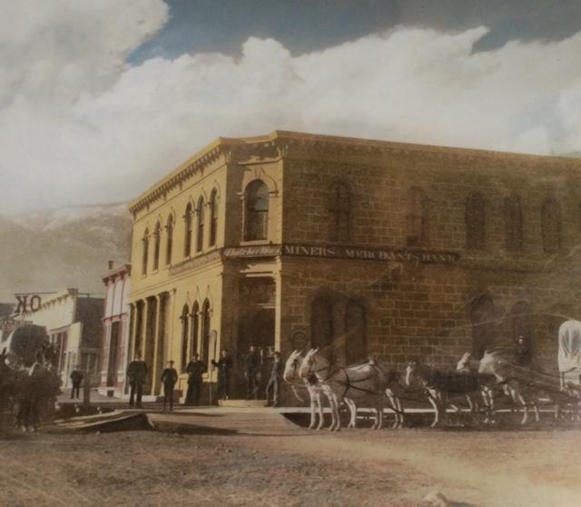 Miners & Merchants Bank. Lake City, Colorado (late 19th century illustration)