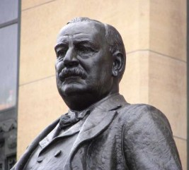 Statue of Grover Cleveland outside City Hall in Buffalo, New York