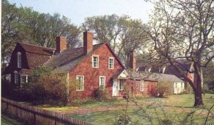 """Lt. Walter Fyler House"", 96 Palisado Avenue, Windsor, Connecticut - This house is located at the southeast corner of the once- palisaded area of the Windsor settlement. Lt. Walter Fyler (the son of George & Jane Fyler) received the parcel of land on which the house sits for his services in the Pequot War, 1636-1638."
