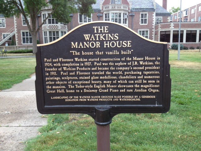 The Watkins Home, built by Paul & Florence Watkins between 1924-27, is now operated as Watkins Manor, an assisted living community of nearly 60 senior apartments in Winona, Minnesota (photo by Matthew Hylbom, Jul 2012).