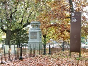 Williams Family Cemetery, Providence, Rhode Island (Location: 75 ft east of Elwood Ave. at telephone pole # 271. In Roger Williams Park between Casino and street)