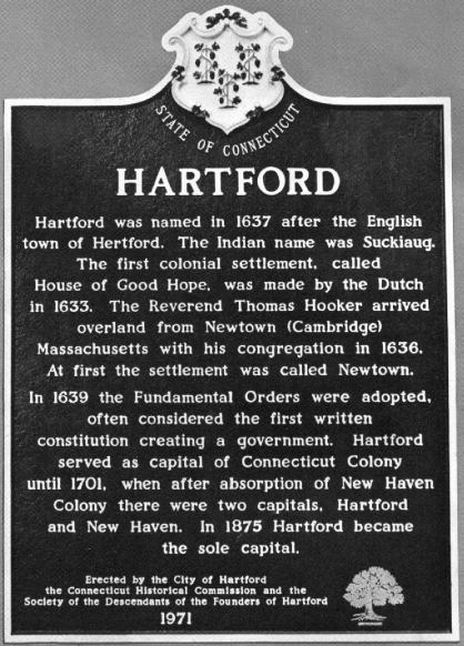 Historical Marker (Hartford, Connecticut)