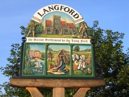 Langford, Bedfordshire - Village sign (2006)