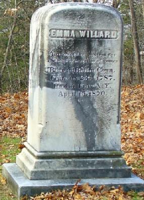 Emma (Hart) Willard grave marker - Oakwood Cemetery, Troy, New York