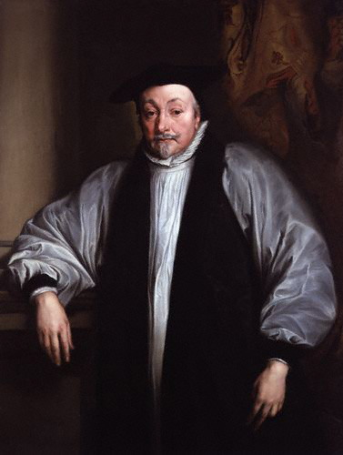 William Laud (1573-1645) was Archbishop of Canterbury from 1633 to 1645.  One of the High Church Caroline divines, he opposed radical forms of Puritanism.  This, and his support for King Charles I, resulted in his beheading in the midst of the English Civil War.