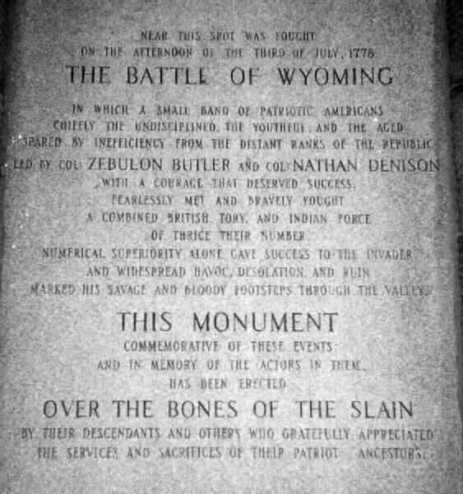 Wyoming Monument inscription