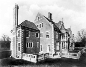 Looking southwest toward front and east side of Paul Watkins residence