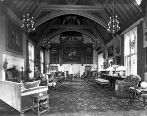 Looking south from middle of great hall