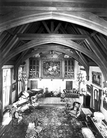 South half of great hall from minstrel's gallery