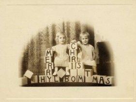Hylbom Christmas card 1937