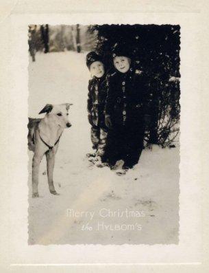 Hylbom Christmas card 1938