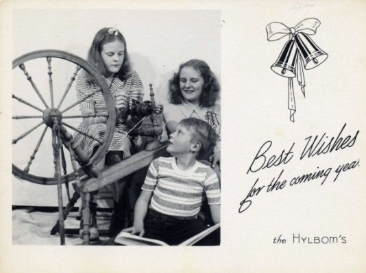 Hylbom Christmas card 1947