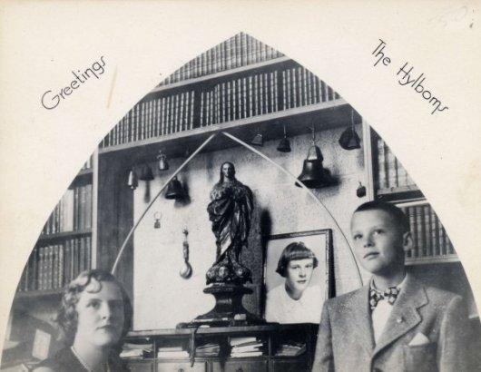 Hylbom Christmas card 1950