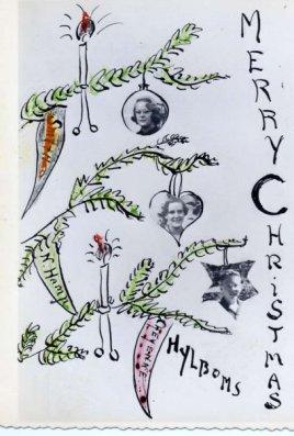 Hylbom Christmas card 1952