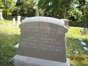 Nathaniel & Eliza Palmer grave site, Stonington, Connecticut