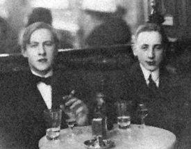 Tor Emil Hylbom date unknown (left)