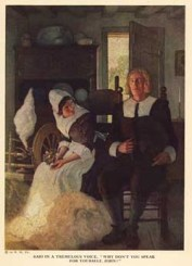 """""""Courtship"""" illustration by N. C. Wyeth (1920)"""