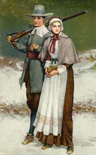 """George H. Boughton's """"Priscilla and John Alden"""", ca. 1884"""
