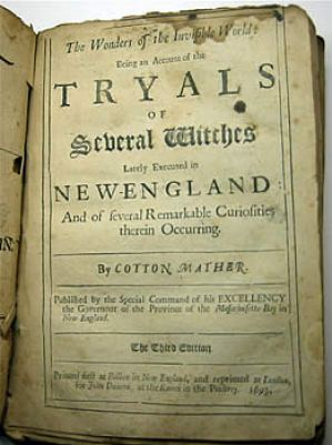 Title page of Wonders of the Invisible World (London, 1693) by Cotton Mather