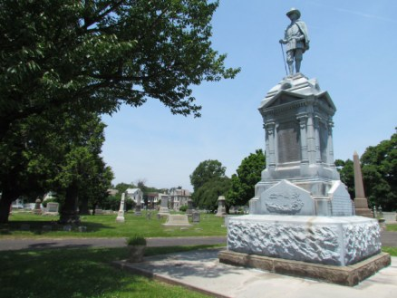 Monument marking the remains reinterred by the City of Newark: Fairmont Cemetery, 620 Central Avenue, Newark, New Jersey