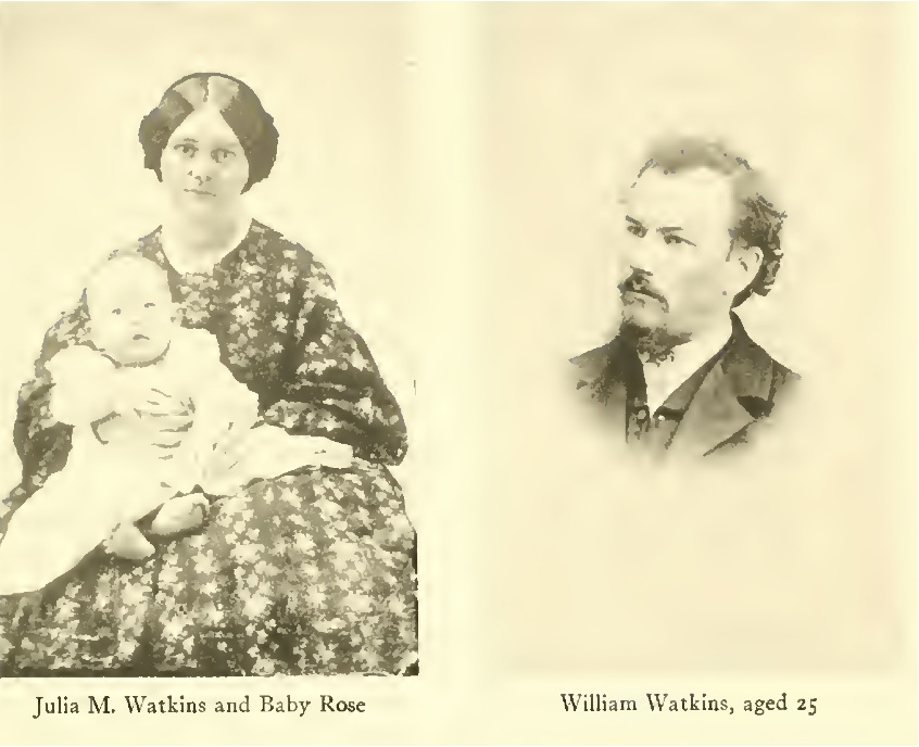 William and Julia Watkins, about aged 25