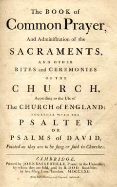 The Book of Common Prayer is one of the major works of English Literature. Since the publication of the first Prayer Book in 1549, this Anglican liturgical text has had an enormous influence. The 1662 Book of Common Prayer is still the official Prayer Book of the Church of England.
