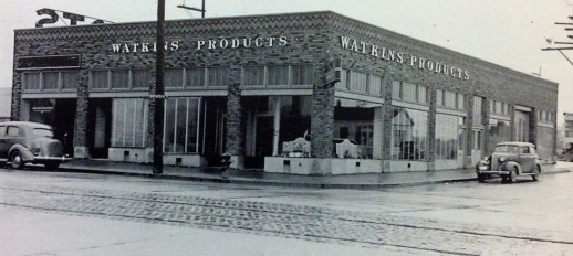At its peak, Watkins had 137 counter stores throughout the USA, such as this store in Seattle, Washington.