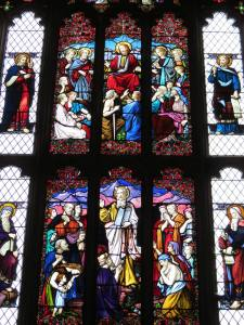 Stained glass windows – All Saints Church in Westbury Leigh (photo credit: Danette Percifield Cogswell, May 2013)