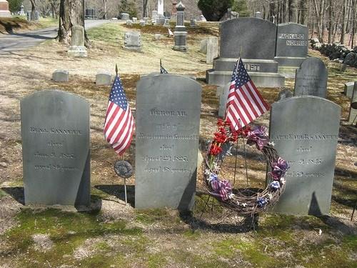 Sampson grave site - photo credit: Mr. Ducke; Rock Ridge Cemetery, Sharon, Mass., 19 Apr 2008