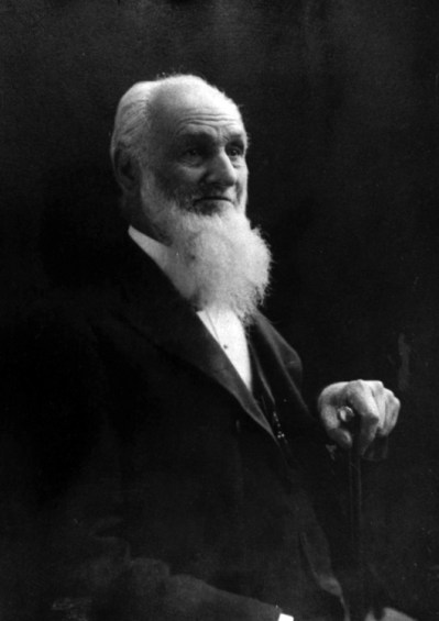 A portrait of Thomas Allen Gunnell (1821-1906), my 3rd g-grandfather, in later life