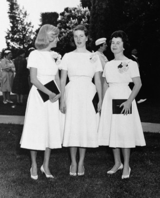 Penny Walhom - Emma Willard commencement, 1958 (with Linda Wolfe and Barbara Hewkes)