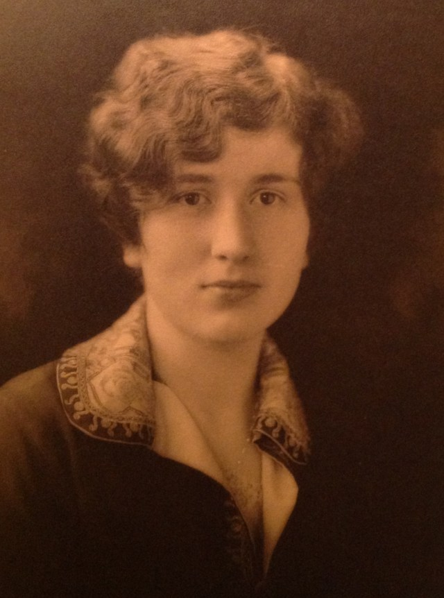 Florence Eugenie Watkins, my grandmother - age 20 (circa 1923)