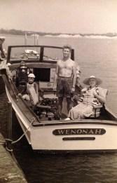 L to R: Glen Johnson, Roy (Rusty), Roy (Wally), Florence Watkins (Whitney Beach, Florida - March 1939)
