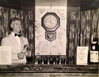Wally Walholm hosting party for wedding of Jane Watkins and Bobby Escher (photo from 1944, 54 Woodley Road, Winnetka, Illinois)