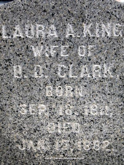 Laura Ann (King) Clarke (1811-1882), Oakland Cemetery, Manchester, Iowa