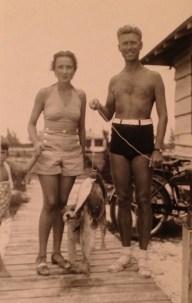 Roy & Florence Walholm, Whitney Beach, Florida (undated)