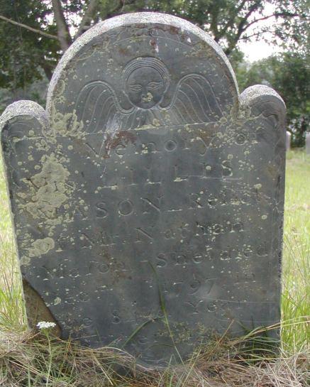 Lillis Haile Mason (1714-1797) - grave marker, Mason-Horton Cemetery, Swansea, Massachusetts