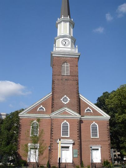 First Presbyterian Church of Elizabeth (Old First of Elizabeth) is a historic church at 14-44 Broad Street in Elizabeth, New Jersey. The current structure was built in 1783 and added to the National Register of Historic Places in 1977. The church was founded in 1664.
