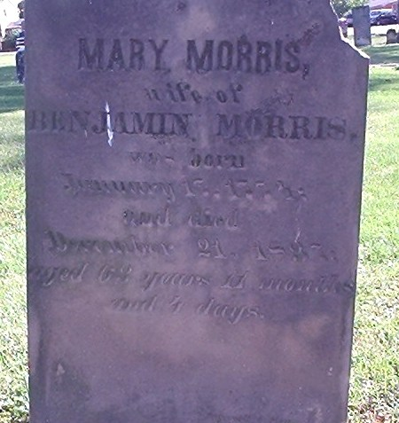 Mary Spinning (1774-1837) was buried in the Pioneer Cemetery, Turtle Creek Township, Warren County, Ohio.