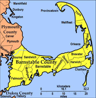 Towns of Barnstable County, Massachusetts