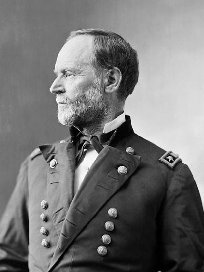 William Tecumseh Sherman (1820-1891) was an American soldier, businessman, educator and author.