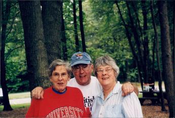 Elizabeth Frazer, Marty Hylbom & Ingrid Hetfield (L to R)