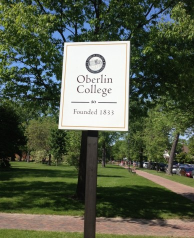 Oberlin College, founded in 1833, was the first American institution of higher learning to regularly admit female (1837) and black students (1835) in addition to white men. (photo credit: Tor Hylbom, May 2014)