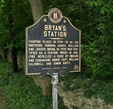 Bryan Station historical marker placed by the Commonwealth of Kentucky