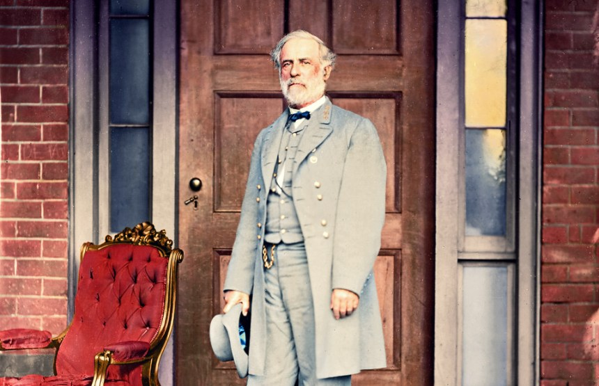 General Robert E. Lee, commander of the Army of Northern Virginia, the most successful of the Southern armies during the American Civil War (1861-65)