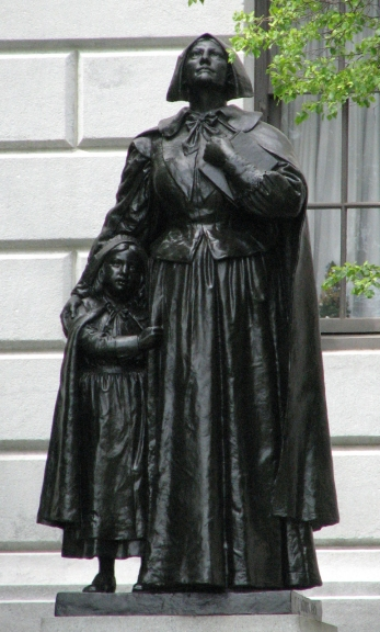 Anne Hutchinson Memorial at Massachusetts State House by Cyrus Edwin Dallin.